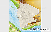 Shaded Relief 3D Map of North Yemen (1), physical outside