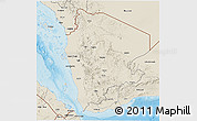 Shaded Relief 3D Map of North Yemen (1)