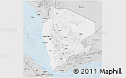 Silver Style 3D Map of North Yemen (1)
