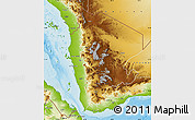 Physical Map of North Yemen (1)