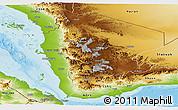 Physical Panoramic Map of North Yemen (1)