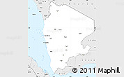 Silver Style Simple Map of North Yemen (1)
