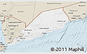 Classic Style 3D Map of Former South Yemen