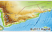 Physical 3D Map of Former South Yemen