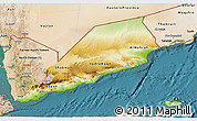 Physical 3D Map of Former South Yemen, satellite outside