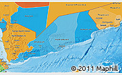 Political Shades 3D Map of Former South Yemen