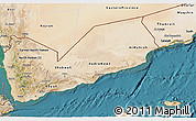 Satellite 3D Map of Former South Yemen