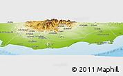 Physical Panoramic Map of Adan