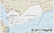 Classic Style Map of Yemen