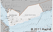 Gray Map of Yemen