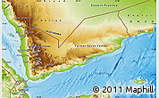 Physical Map of Yemen