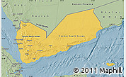 Savanna Style Map of Yemen