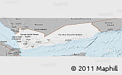 Gray Panoramic Map of Yemen