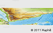 Physical Panoramic Map of Yemen