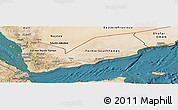 Satellite Panoramic Map of Yemen