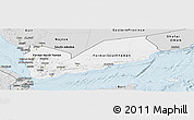 Silver Style Panoramic Map of Yemen