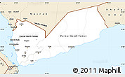 Classic Style Simple Map of Yemen
