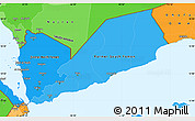 Political Shades Simple Map of Yemen