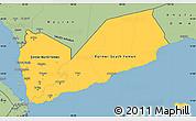 Savanna Style Simple Map of Yemen