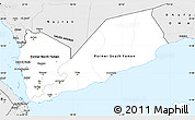 Silver Style Simple Map of Yemen