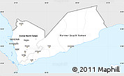 Silver Style Simple Map of Yemen, single color outside
