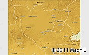 Physical 3D Map of Kabwe Rural