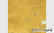 Physical Map of Kabwe Rural