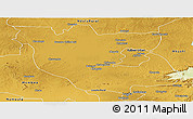 Physical Panoramic Map of Kabwe Rural