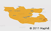 Political Panoramic Map of Kabwe Rural, cropped outside