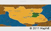 Political Panoramic Map of Kabwe Rural, darken