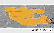 Political Panoramic Map of Kabwe Rural, desaturated
