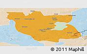 Political Panoramic Map of Kabwe Rural, lighten