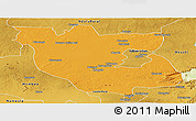 Political Panoramic Map of Kabwe Rural, physical outside
