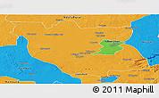 Political Panoramic Map of Kabwe Rural
