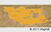 Political Panoramic Map of Kabwe Rural, satellite outside