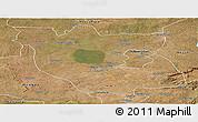 Satellite Panoramic Map of Kabwe Rural