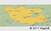 Savanna Style Panoramic Map of Kabwe Rural