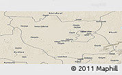 Shaded Relief Panoramic Map of Kabwe Rural