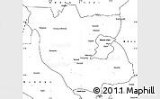 Blank Simple Map of Kabwe Rural