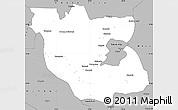 Gray Simple Map of Kabwe Rural