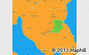 Political Simple Map of Kabwe Rural