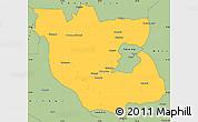 Savanna Style Simple Map of Kabwe Rural