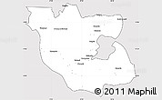 Silver Style Simple Map of Kabwe Rural, cropped outside