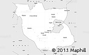 Silver Style Simple Map of Kabwe Rural