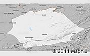 Gray Panoramic Map of Mkushi