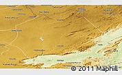 Physical Panoramic Map of Mkushi