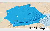 Political Panoramic Map of Mkushi, lighten