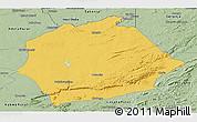 Savanna Style Panoramic Map of Mkushi