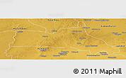 Physical Panoramic Map of Mumbwa