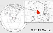 Blank Location Map of Serenje
